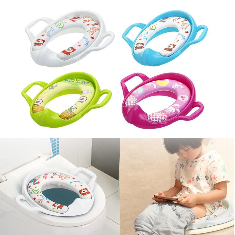 Entrenamiento insignificante del beb/é del amortiguador de asiento del inodoro Almohada para el beb/é y del ni/ño Los ni/ños y ni/ñas Verde