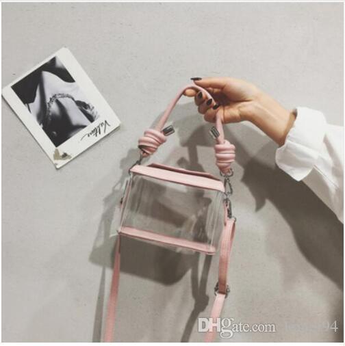 Прозрачная милая женская сумка 2019 Новое качество ПВХ Прозрачная женская дизайнерская роскошная сумочка Простые сумки на ремне через плечо