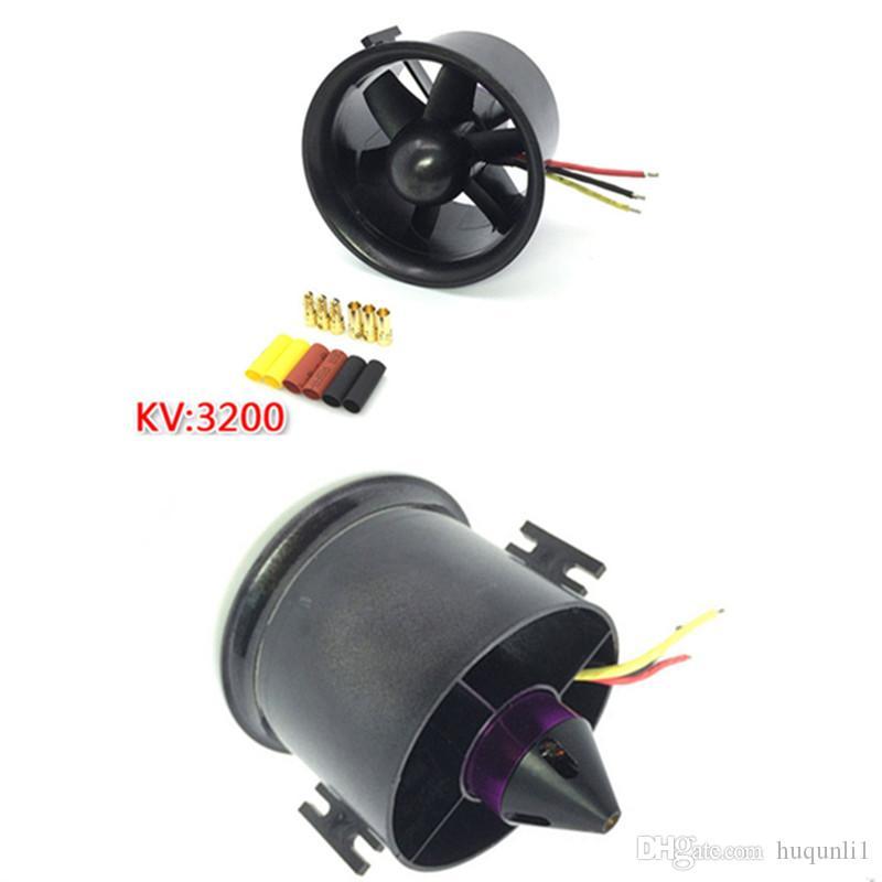 QX-Motor 70 # 6-Blatt Propeller Kanalventilator EDF Mit QF2839 3200KV Motor Brushless 4s Lipo Für RC Flugzeugmodell Teile