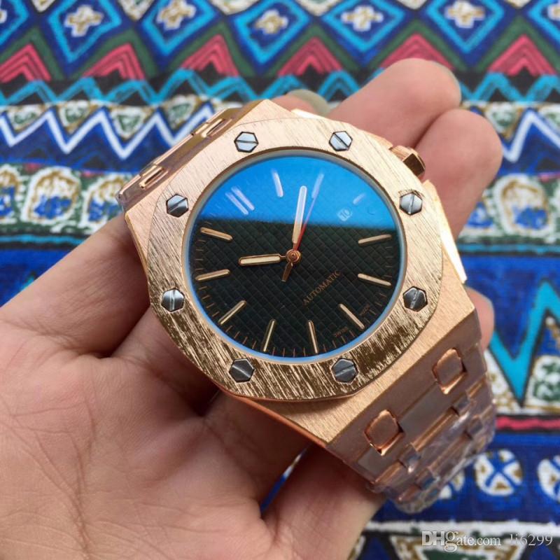 Top diseñador nuevo reloj para hombre de la marca correa de acero inoxidable de la manera superior de diseño de lujo popular de los relojes del reloj del cuarzo relojes de los hombres