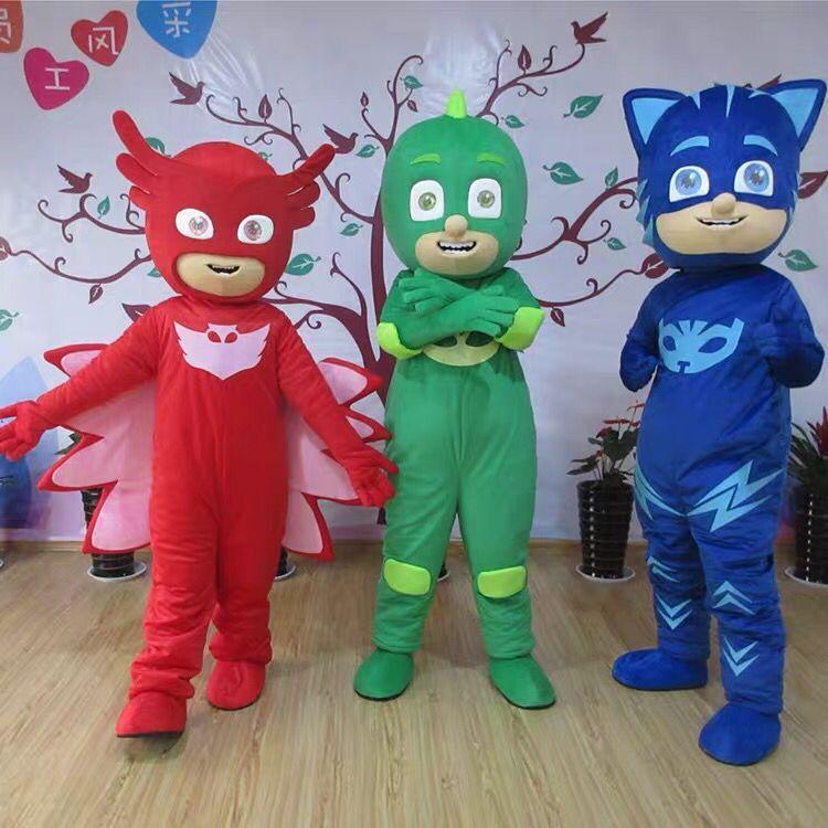 PJ 마스크는 케이프 코트와 아이 마스크 2 개는 / PJ 마스크 의상은 케이프 어린이 할로윈 파티 의상 선물 마스코트 문자 PJ 5 색을 설정