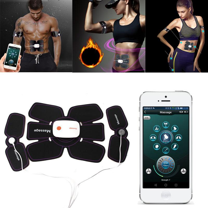 EMS Muscle abdominal formateur intelligent App électronique Muscle Stimulator exerciseur Body Machine Minceur Fitness Massage
