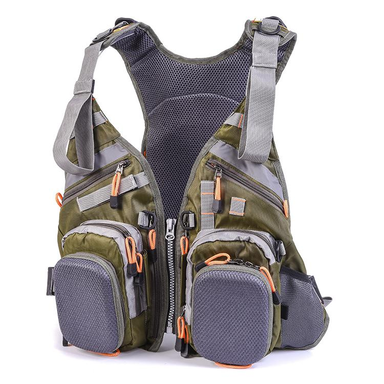 New Multifunction FishingLife Vest Outdoor Fishing Safety Life Jacket Waterproof Removable Multi-pocket Camping Fishing Backpack