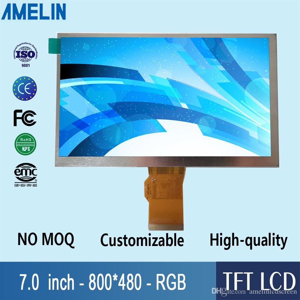 7 inch 800*480 TFT LCD module display with RGB interface and EK9716 Driver IC screen from amelin