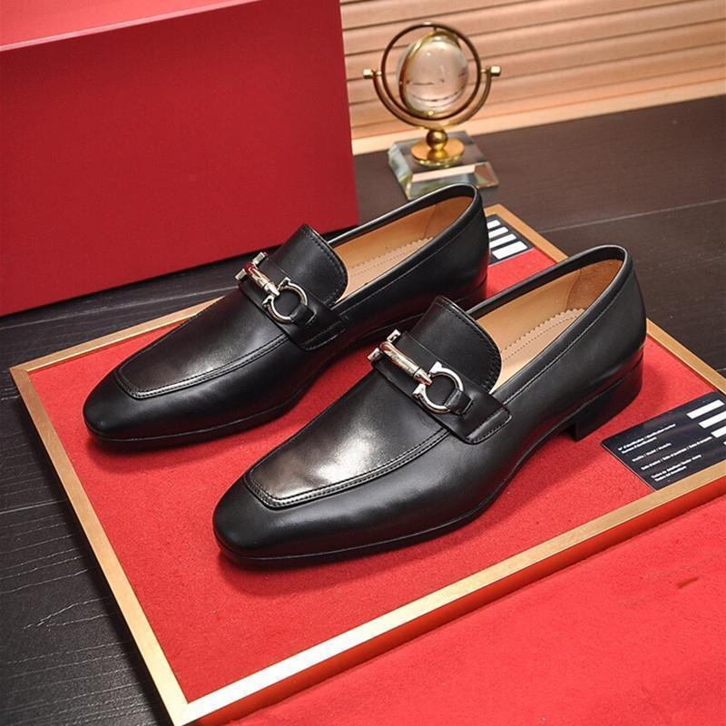 De haute qualité Robe formelle Chaussures pour hommes doux luxe design noir véritable Chaussures en cuir pour hommes d'affaires Toe Pointu Oxfords Casual shoe8d4d n