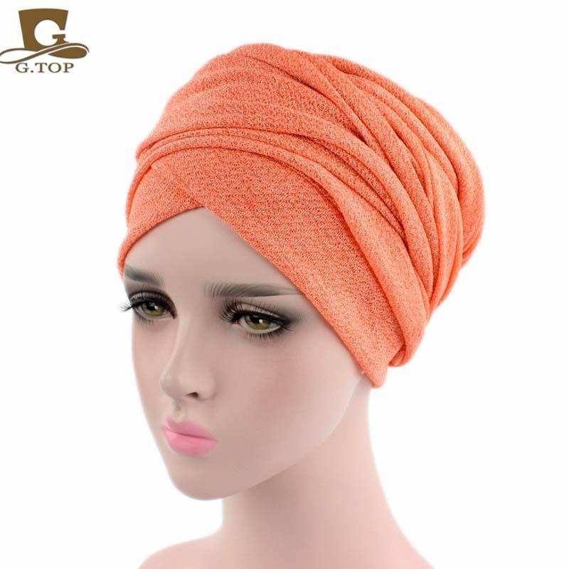 Nouveau Printemps Style Turban Respirant Maille Shimmer Long Écharpe Head Wrap Femmes Hijab Tube Tête Écharpe Cravate C19042001