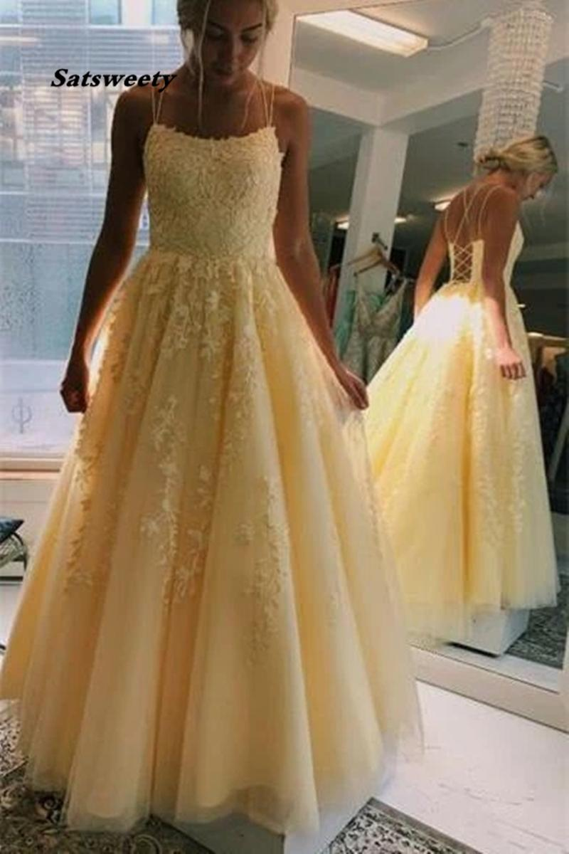 Plus Size Long Yellow Prom Dress Sexy