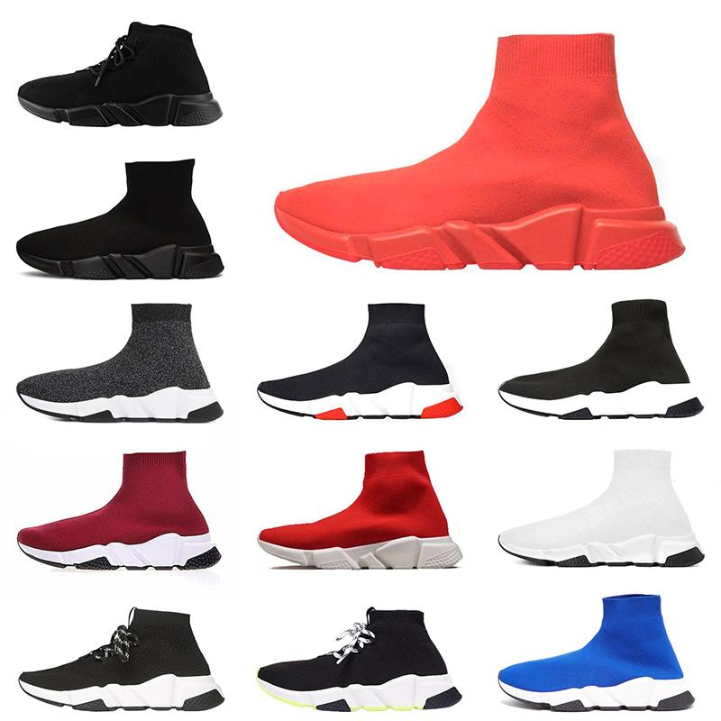 Luxury Designer Sneakers Speed Trainer Sock Shoes Trpile Red Rose Pink White Casual Running Shoes Speed Trainer Runner Men Women OFF 36-45