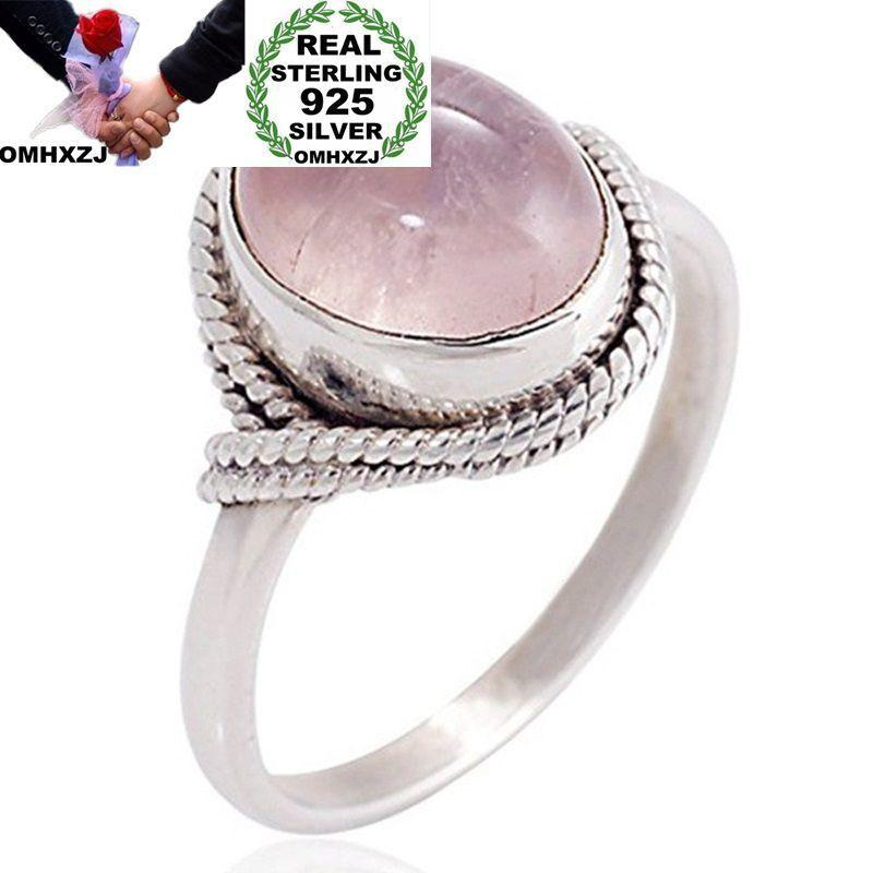 OMHXZJ Wholesale European Fashion Woman Man Party Wedding Gift Silver Oval Silver WhiteTaiyin Ring RR310