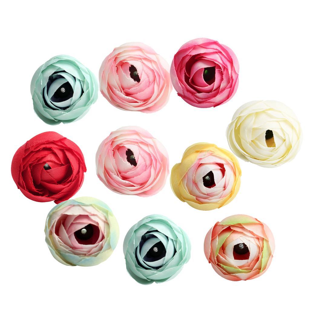 10 Chefes Pieces Artificial Silk Camellia Flores Fundo do partido Casamento Casa Para DIY Decoração Scrapbooking Hotel Wall Decor