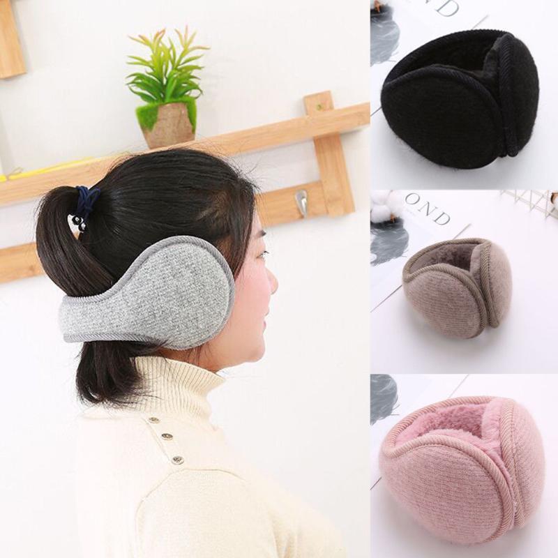 Adult Unisex Earmuffs Winter Warmer Thicken Plush Fluffy Ear Muffs Solid Earlap Solid Headband Alert Girls Ear Muffs Warmer