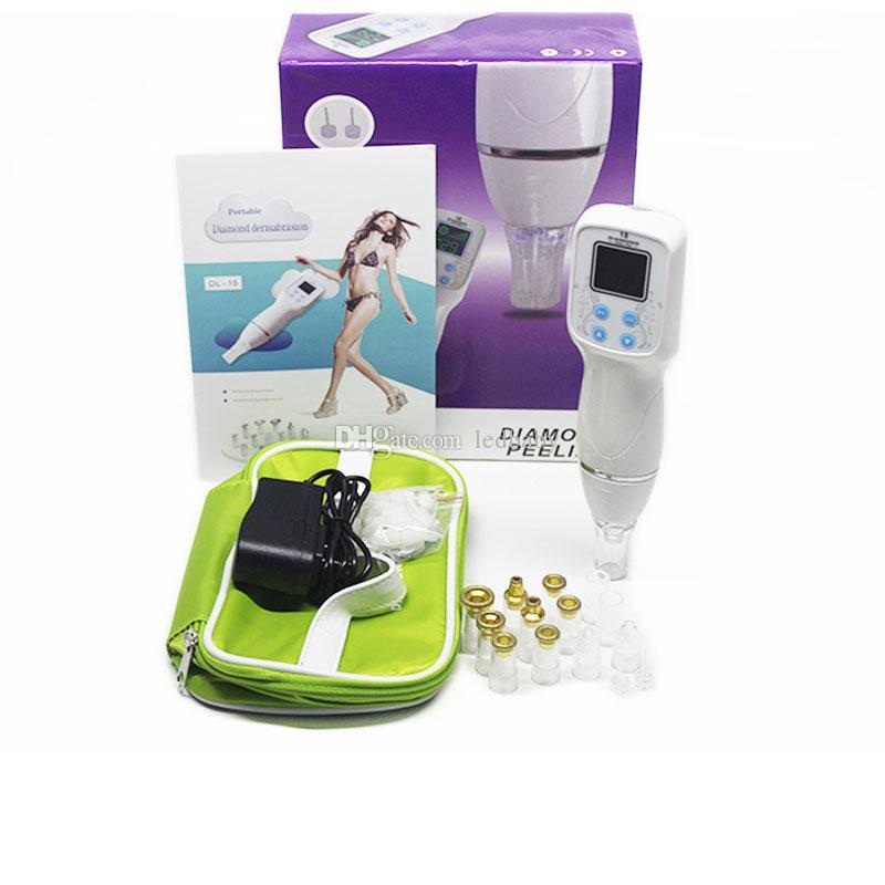Mais recentes vendas quentes 12 Dicas Máquina de Remoção de Cravo Microdermoabrasão Vácuo Cravo Limpador Dermoabrasão Diamante Peeling Massageador