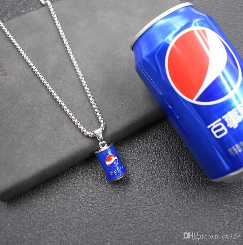 Semplice terra fresca Cola Bottle maglia lunga collana di Hip Hop Pendente marea Men