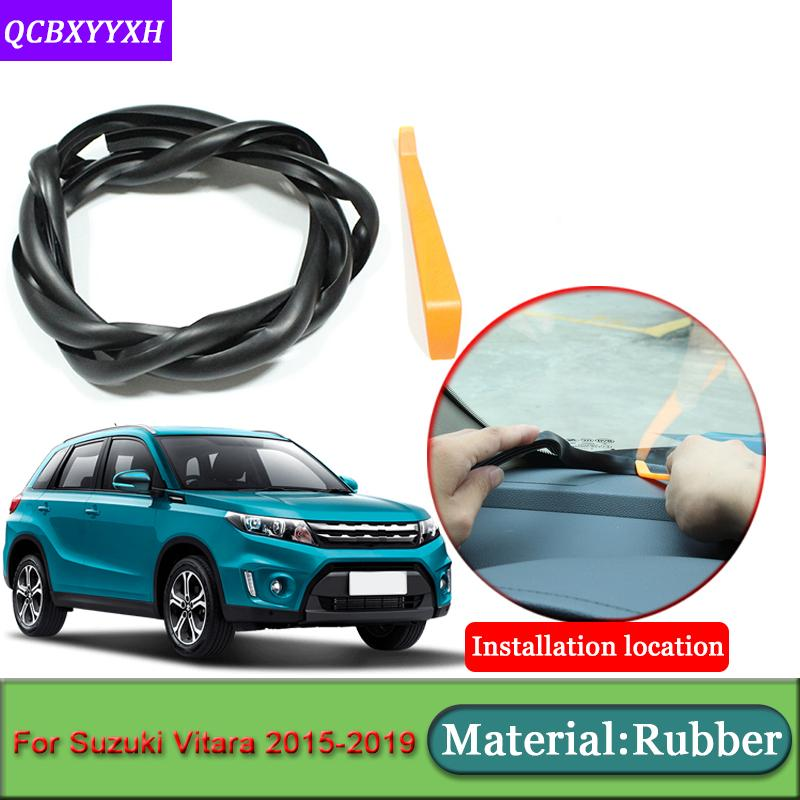 Car-styling For Vitara 2015-2019 Anti-Noise Soundproof Dustproof Car Dashboard Windshield Sealing Strips Auto Accessories