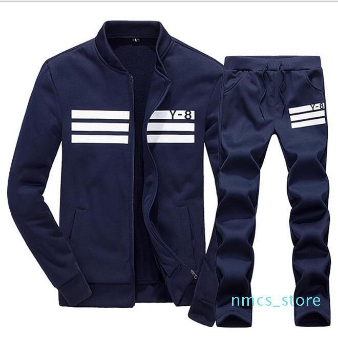 Plus Size M-4XL terno Sportswear Hoodie e camisolas Preto Branco Primavera Outono Jogger Sporting Mens sweatsuits Fatos Set