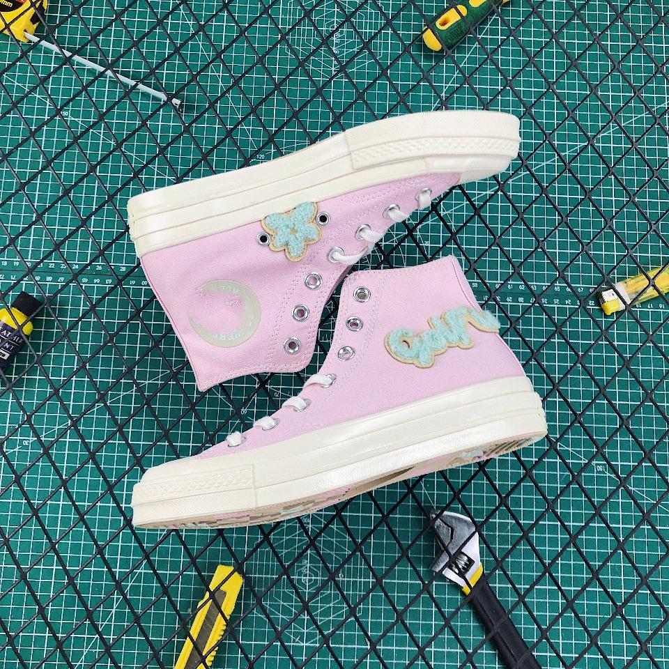 2019 новый Чак Тейлор All-Star 70 Привет девушка повседневная обувь высокого верха стиль спорт звезда розовый милый классический холст обувь спортивная обувь дамы холст