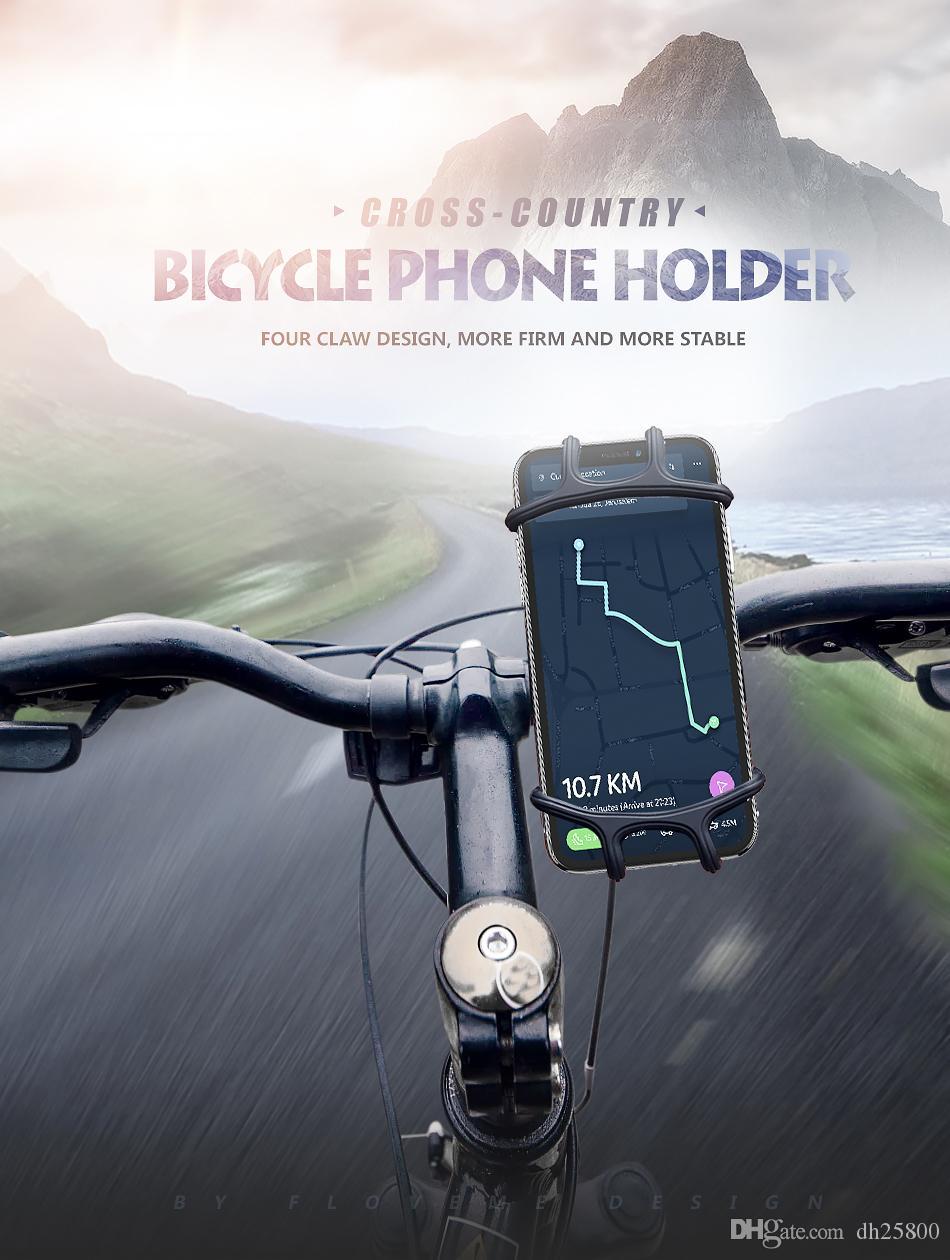 FLOVEME soporte de teléfono de bicicleta para el iPhone Samsung Universal Mobile teléfono celular bicicleta manillar Clip soporte de montaje
