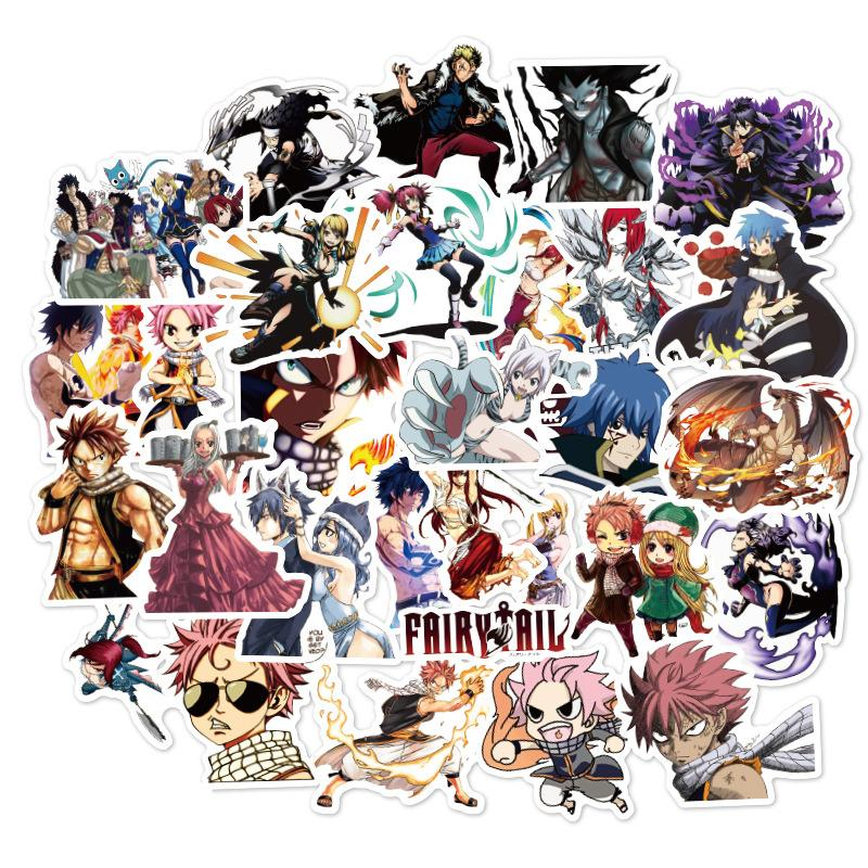 100 PCS FAIRY TAIL anime Stickers Graffiti for DIY Sticker on Suitcase Luggage Laptop Bicycle Skateboard Car