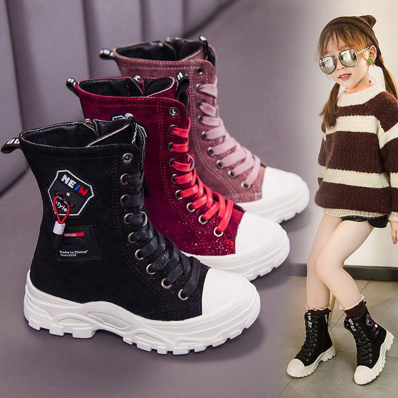 التجزئة الأطفال مارتن الأحذية عالية الثلوج أحذية الشتاء أعلى البريطانيين الأحذية البريطانية مبطن الفتيان الفتيات الأزياء بالإضافة إلى الأحذية المخملية