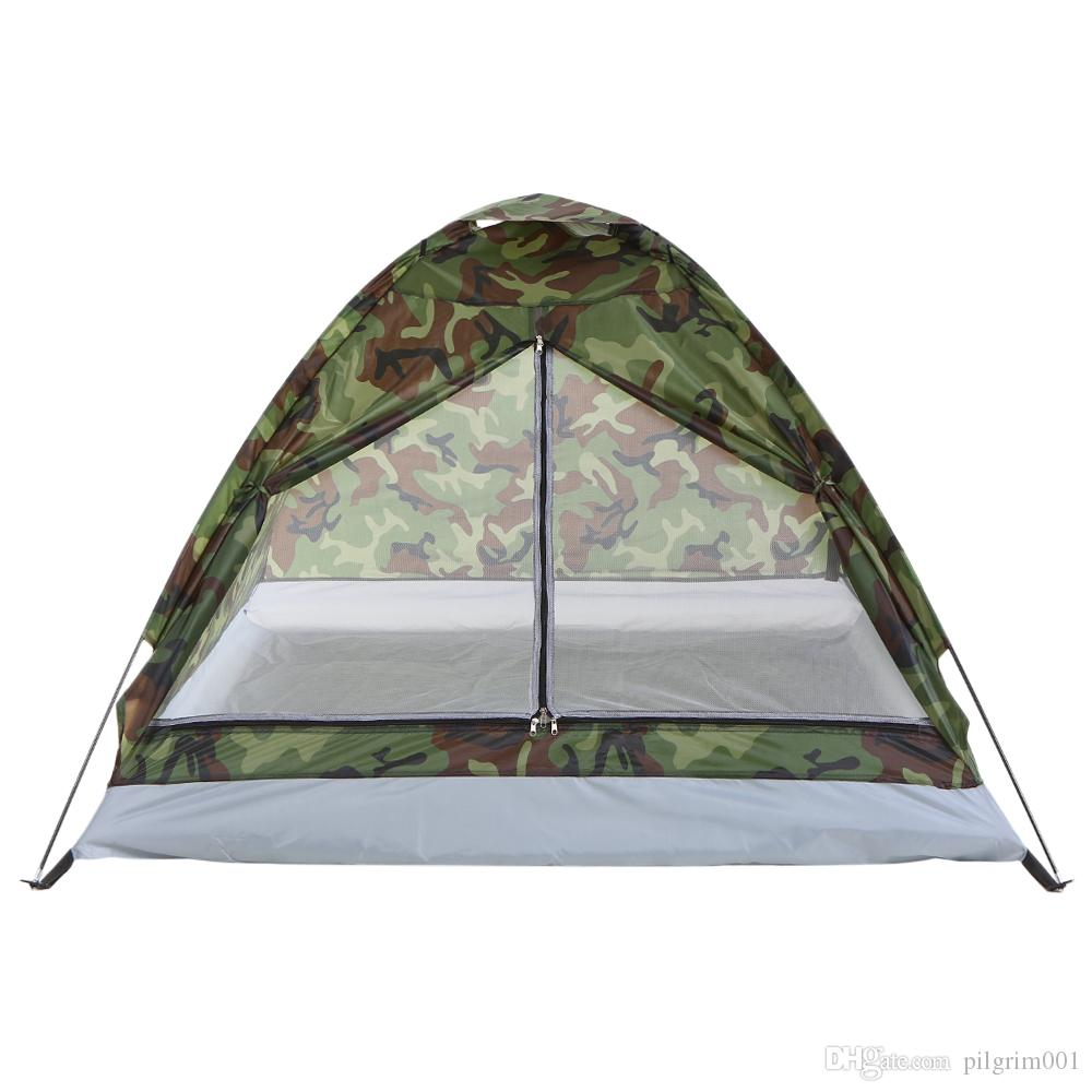 camping tent shelter 1.2KG 2 person utralight single layer water resistance Tent PU1000mm with carry bag for hiking traveling camping picnic