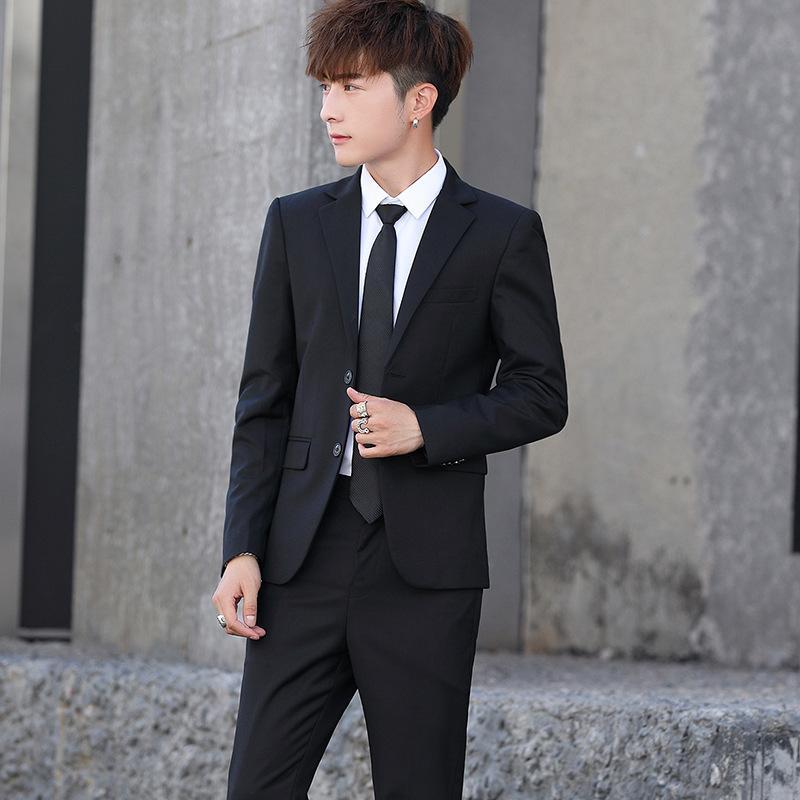 Новый костюм мужской костюм 2 комплекта тонкий бизнес корейских случайных мужчин