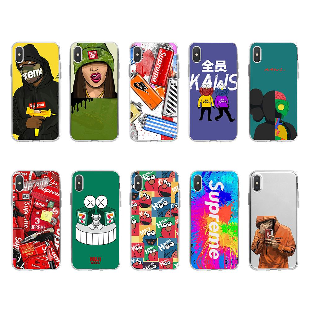 For Iphone 11 Pro Phone Case Xs Max Xr Car Lock Nunchaku 7 8 X Plus Fashion Transparent TPU Soft Cell Phone Cases