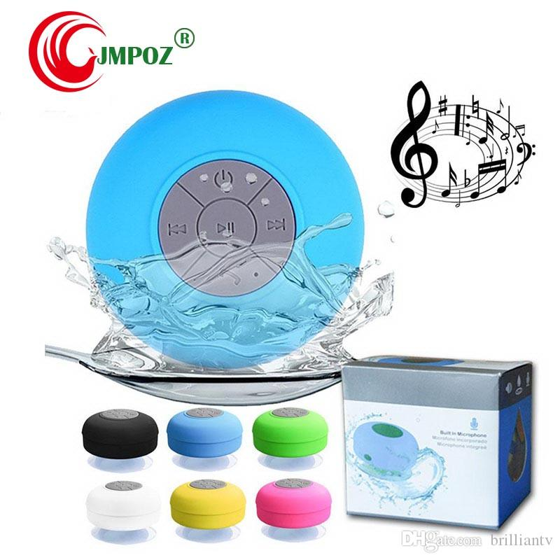 Bluetooth Speaker Hand Free Super Bass Waterproof Suckers Mini Speakers Portable Audio Players For SAMSUNG iPhone HTC DHL Free