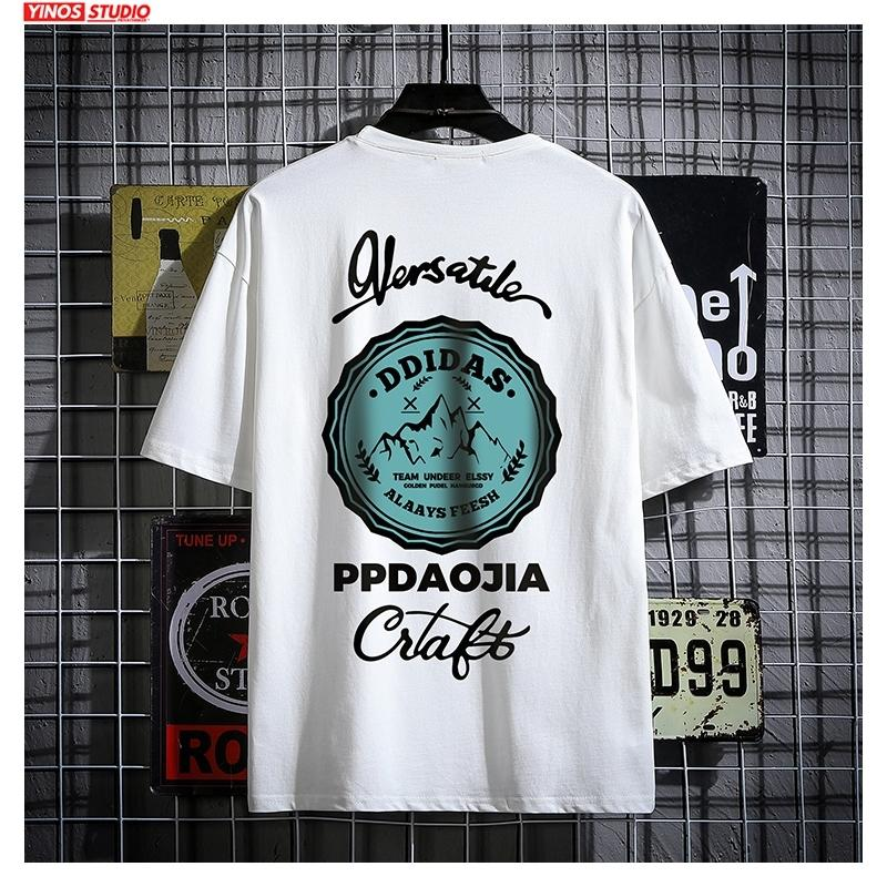 Dropshipping 2020 Men Oversize Carton Printed Tshirts Tops Men's Summer Japan Collage Tees Male T-shirts Tops Streetwear Clothes CY200513