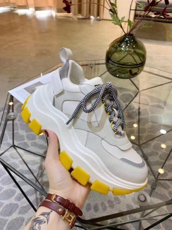 2019 Prada Art- und Weiseluxusfrauen Entwerfer-Plattform-Brücke All Star Color Matching dickbesohlte Schuhe des alten Paares tragen Turnschuhe taille 36-40 zur Schau