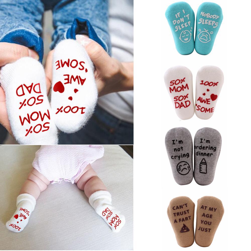 4styles Brief Baby Socken Englisch Kinder Winter Warm Neugeborenen Socken Weiche Kleinkind Boden Socke Casual Baby Fußwärmer FFA2884