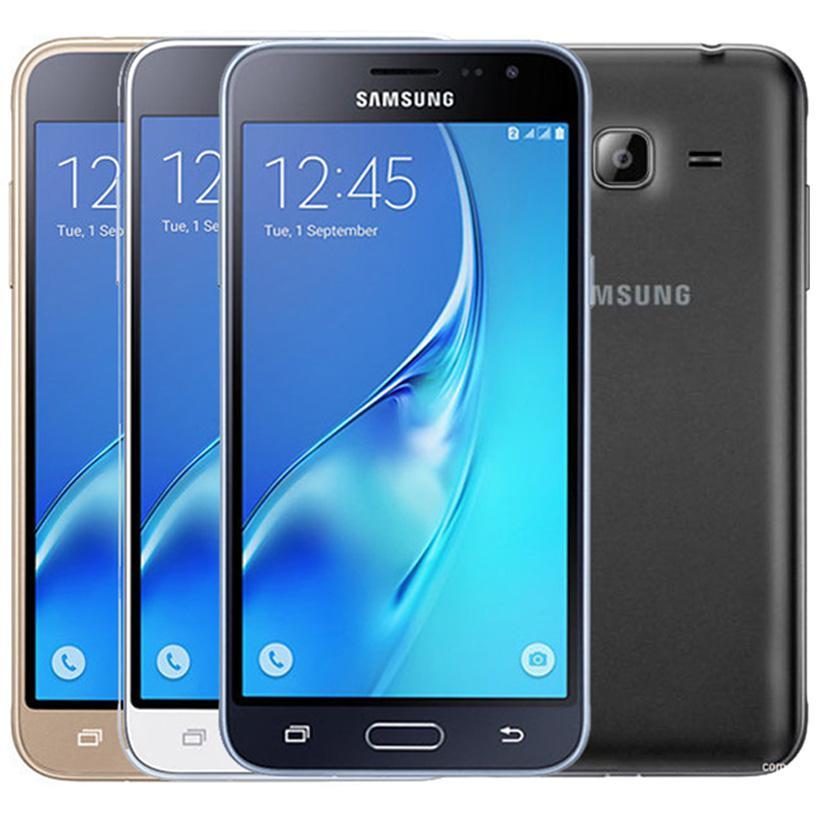 تم تجديده الأصلي سامسونج غالاكسي J3 2016 J320F واحدة SIM 5.0 بوصة الهاتف رباعية النواة 1.5GB RAM 8GB ROM 4G LTE الروبوت الهاتف المحمول الذكية 10PCS