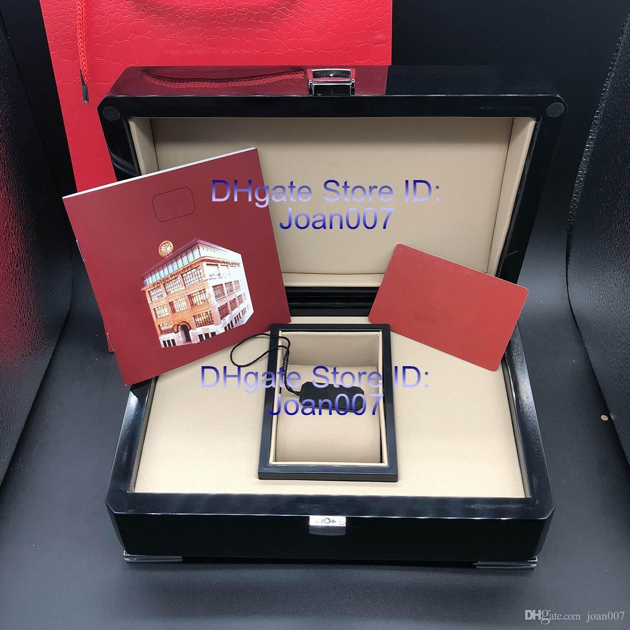 Top qualité PP Voir carte originale Boîte Papiers bois Boîtes cadeaux sac rouge boîte pour PP Nautilus Aquanaut 5711 5712 5990 5980 Montres
