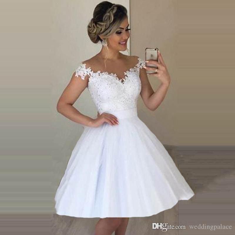 White Cocktail Wedding Dress Off 70 Buy