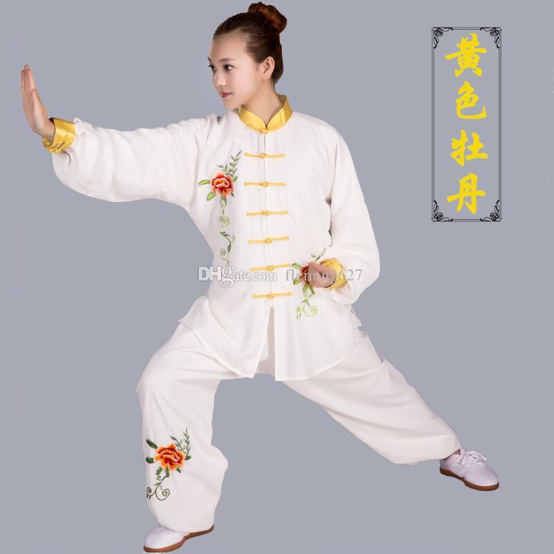 Китайский стиль вышитый костюм Тан костюм профессиональный кунг-фу тай-чи униформа традиционные китайские туники спортивные костюмы для мужчин, женщин
