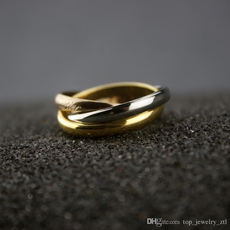 Многослойная Тонкий кольцо Женщины розовое золото Кольцо Свадьба Обручальное подарков ювелирные изделия