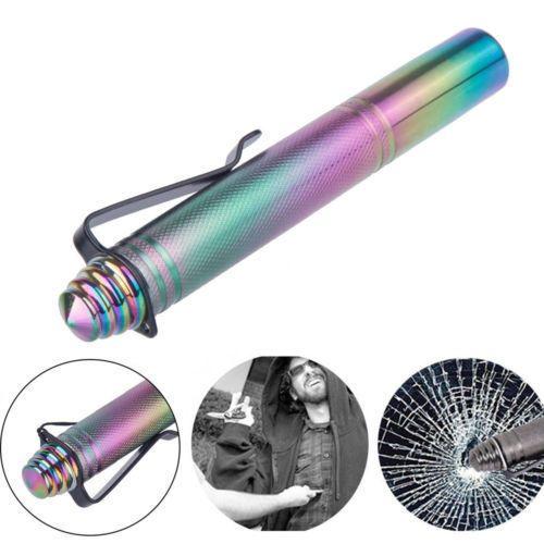 32 см многофункциональный телескопический тактический выживания ручка открытый самообороны защита стекла выключатель инструмент для кемпинга вождения