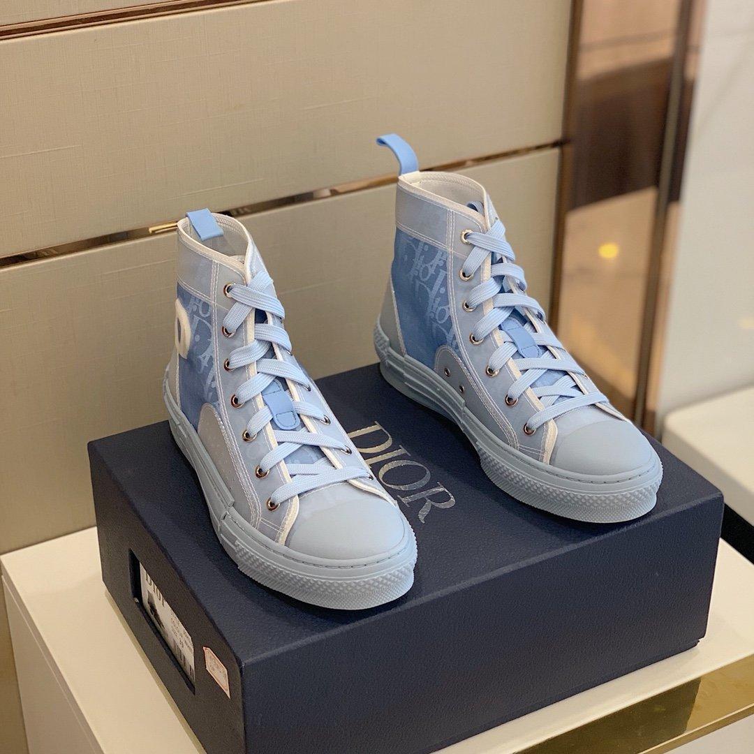 2020 xshfbcl CALDO Fiori tecnico della tela di canapa B23 High Top Sneakers in Oblique Mens Luxe Designer Shoes Moda Donna B22 B23 B24 B0 Shoes