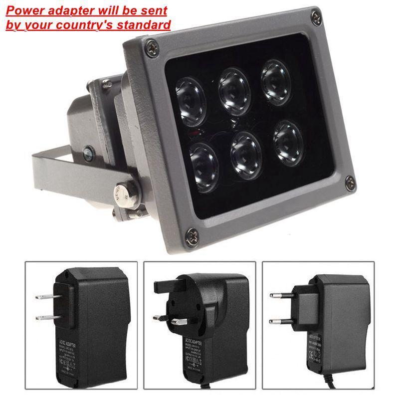 CCTV LEDS IR iluminador lâmpada infravermelha 6 pcs Array Levou IR Ao Ar Livre À Prova D 'Água Night Vision CCTV Luz de Enchimento para Câmera de CCTV