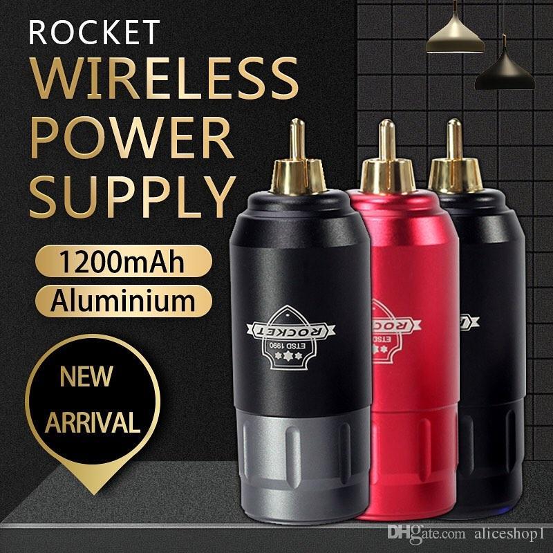Sem fio de alimentação Mini Recarga Power Bank RCA Connection 1200mAh para Tattoo Pen Máquina
