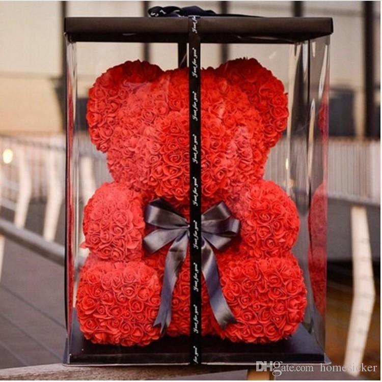 Rose Bear Wedding Party Decoration Valentine's Day Gift Cute Cartoon Super Girlfriend Kid Gift Love Bear Dolls Present