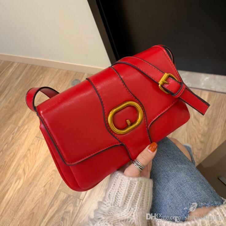 2019 Casual mode femmes sac à main sac à main lady sac petit Mini téléphone portable sac Cross Body Shoulder Bags de haute qualité PU Sacs À Main Monochrome A926B
