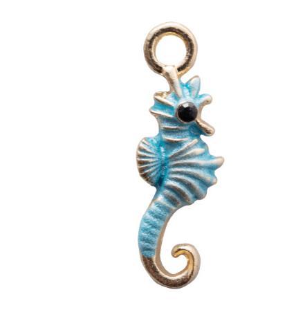 Изысканный эмаль Морской конек Шарм подвески 20*5 мм серьги браслет ожерелье ручной работы аксессуары ремесло ювелирные изделия решений