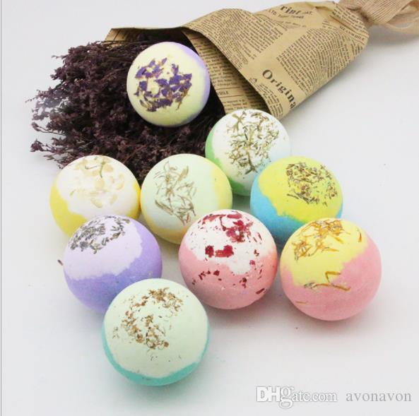 100g Bath Salts Ball Organic Bath Bombs Bubble Essential Oil Handmade SPA Stress Relief Exfoliating Mint Lavender Rose Flavor CZ128