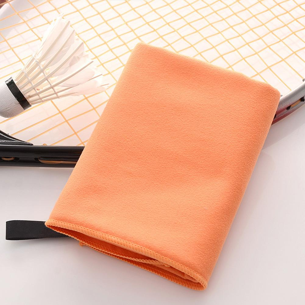 Camping Gym Swimming Wipe Soft Quick Dry Hand Travel Outdoor Double-sided With Carry Bag Towel Yoga Polyester