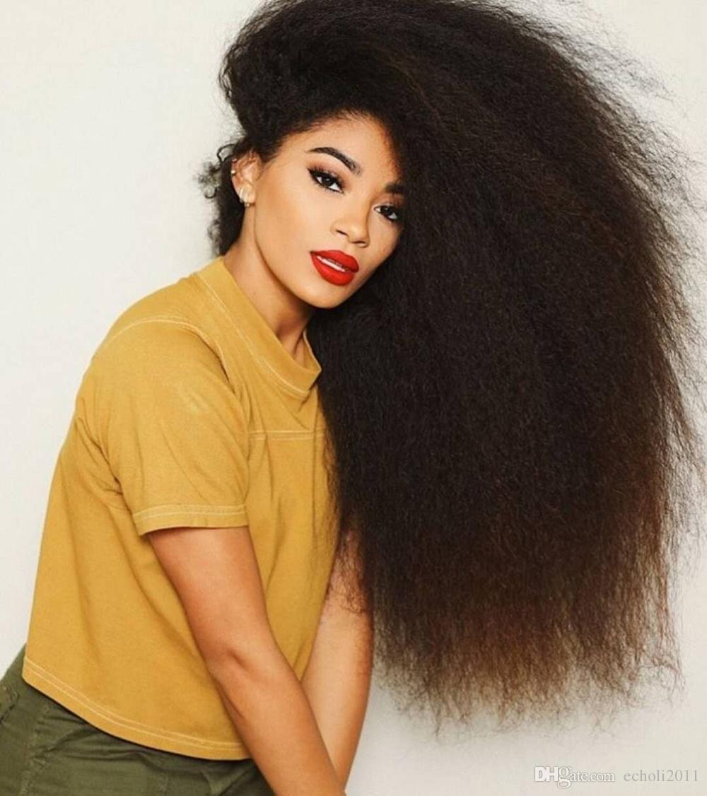 African american coarse yaki kinky straight 360 lace frontal wig pre plucked 250density wig 10a GRADE overnight delivery dhl free shipping
