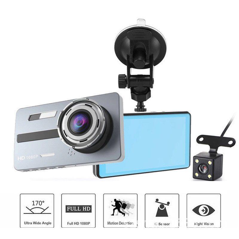داش A10 المزدوج للسيارات عدسة كاميرا 1080P لوحة كاميرا 3.6 بوصة عدسة HD للرؤية الليلية قيادة السيارة DVR مسجل مراقب