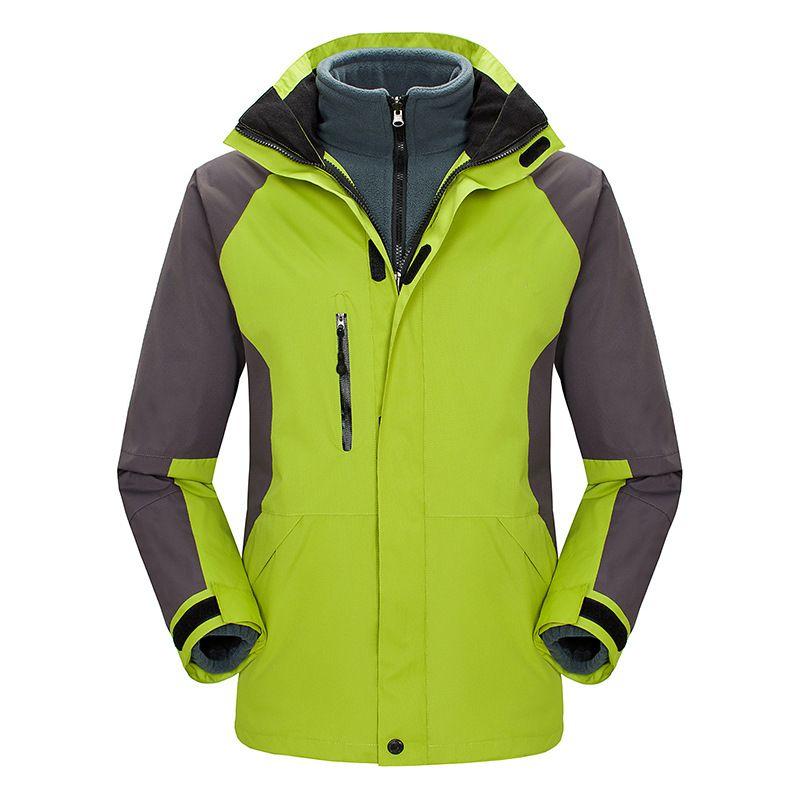 Jackets outdoor parte dos homens Three-in-One removível outono e inverno Casais Jacket Montanhismo Womens Atacado personalizado