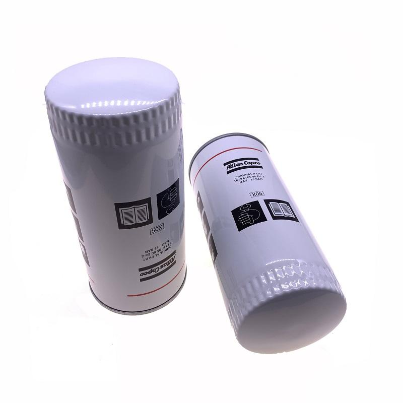 Gratis verzending 20 stks / partij 1613610500 = 1613610590 Oliefilter element olie raster brandstoffilter voor Atlas Copco schroef luchtcompressor onderdelen