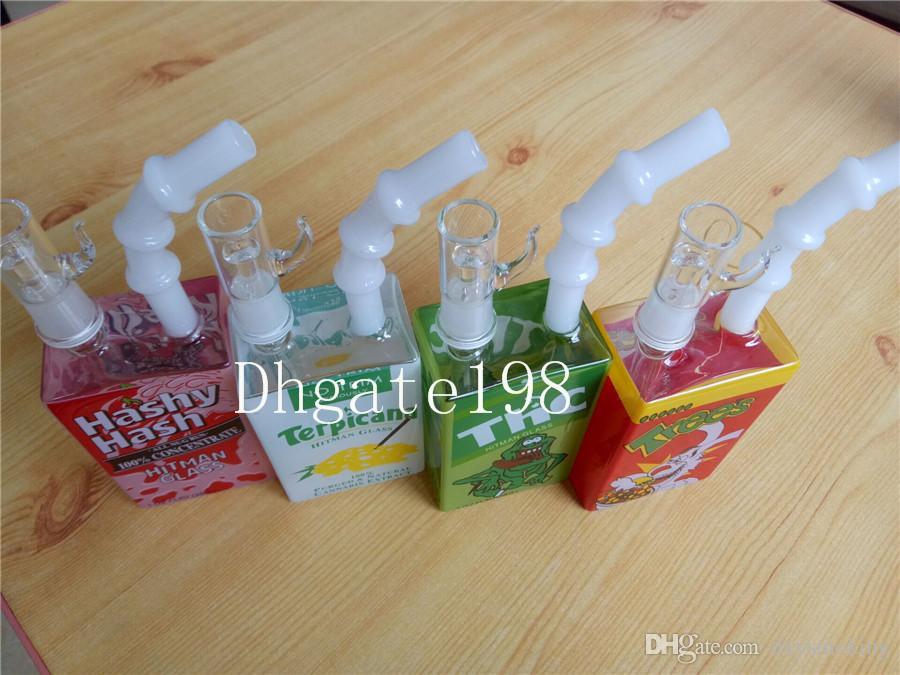 2 개 청부 살인업자 미니 액체 유리 오일은 오일 조작 DAB 무료 배송 봉 domeless 네일 그릇 유리와 14.4 mm를 유리 시리얼 상자 릭
