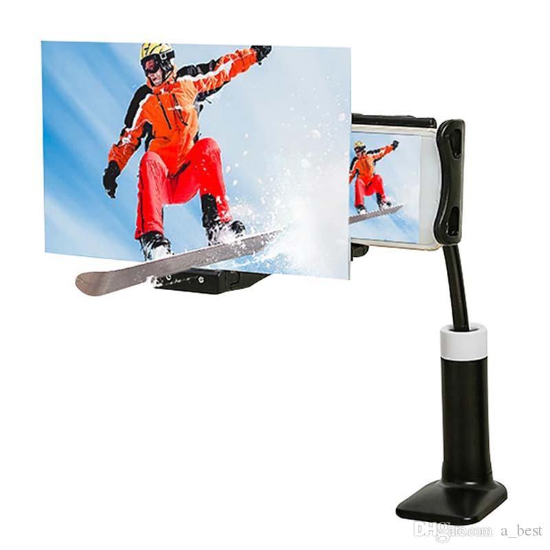 Schermo del telefono mobile Magnifier acrilico ABS 12 pollici HD ingrandimento 3D Movie Video amplificatore con flessibile Expander pigro persona Clip Holder